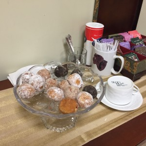donut holes before seeing the dentist--a perfect snack