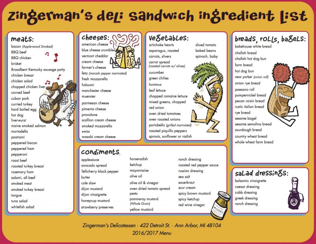 Sandwich Menu Ingredient List_2016