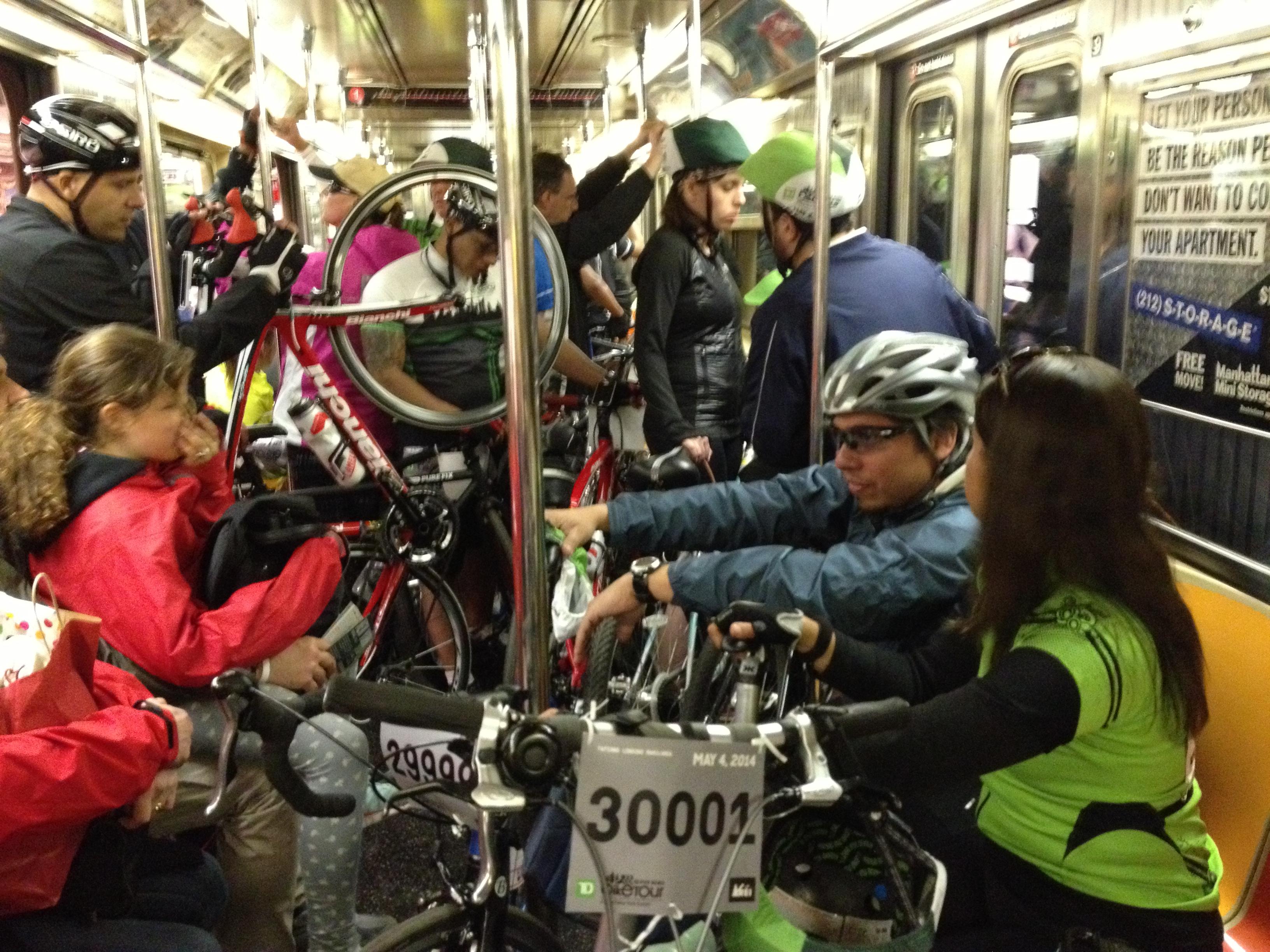 bikes on subway